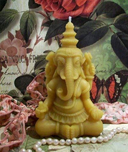Hindu Lord Ganesha Ganesh Beeswax Candle God