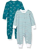 Hanes Ultimate Baby Flexy 2 Pack Sleep and Play Suits, Green Fun, 18-24 Months