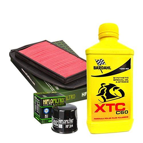 Kit tagliando Bardahl XTC C60 10W40 filtro olio aria Yamaha FZ6/Fazer/S2 600