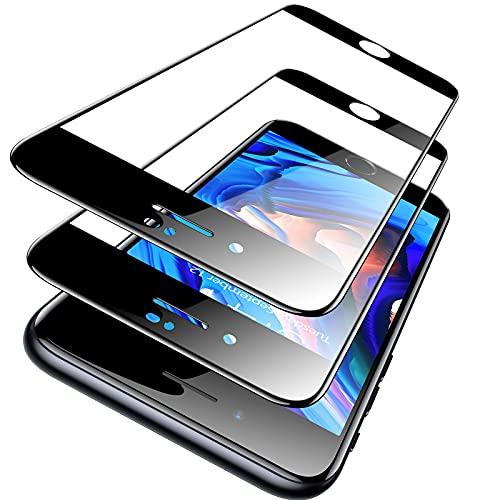 TORRAS Vollbildschutz (Nur) für iPhone SE 2020 Panzerglasfolie, [Verstärktes Schutzglas nach Militätstandard] mit Positionierhilfe, Anti-Fingerabdrücke, Stoßfeste iPhone SE 2020 Glas, 2 Stücke