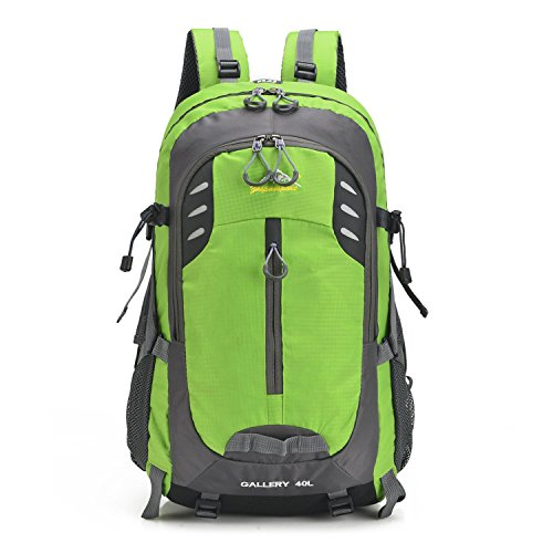 Portable alpinisme sac à dos Oxford multifonction loisirs léger sac à dos escalade voyages randonnée équitation Business étudiants sport sac à bandoulière 5 couleurs H52 x W30 x T17 cm , light green