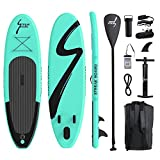 streakboard Inflatable Stand Up Paddle Board Ultra-Light Surfing Board, 6 Inches No Slip Deck ISUP Boards with Free SUP Accessories & Backpack, Leash, Paddle and Hand Pump, for All Levels