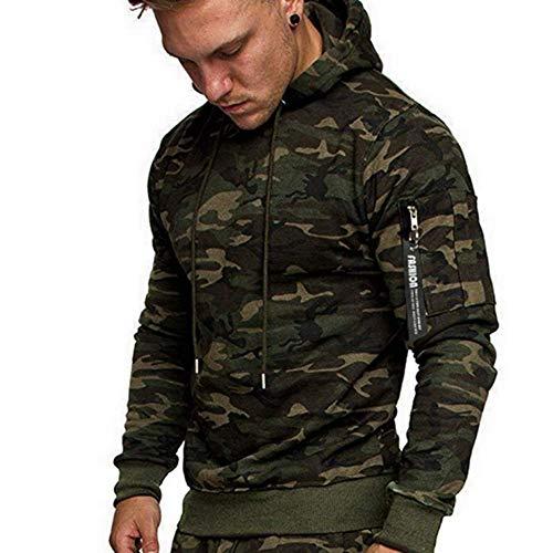 Preisvergleich Produktbild JA Herren Sweatshirt Herren Camouflage Hoodie Herren Casual Tops Herrenmode Hoodie Frühling / Herbst Langarm Casual Sweatshirt