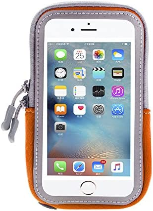Armband for iPhone 11 12 / Samsung Galaxy S21 S20 S10e Note 10, A10S A20 A50 A51 S10+ S9+ Plus A01 A10E A20E / Moto G Stylus, G8 G7 G6 Z3 Play/Pixel 5, 3a, 4a, Running Phone Holder Pouch (Orange)