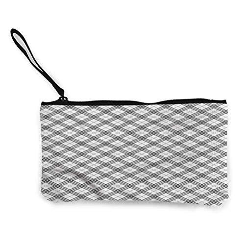 Plaid Portable Cosmetic Bag Travel Makeup Bag Porte-Monnaie Cosmetic Storage Bags Irish Stripes Checks