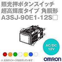 オムロン(OMRON) A3SJ-90E1-12SR 形A3S 照光押ボタンスイッチ 超高輝度タイプ (角胴形) (赤) NN