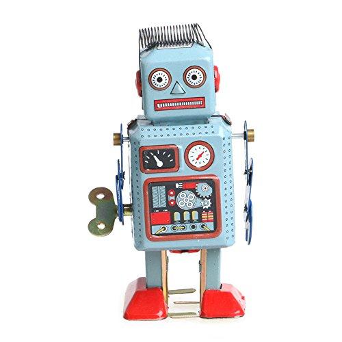 Lamdoo Vintage Mechanisches Uhrwerk Aufziehbarer Roboter Blechspielzeug Kinder Geschenk Kollektion