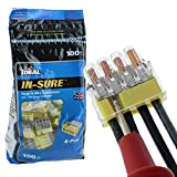 (100 Pack) Ideal in-Sure 4-Port, 34 Yellow...