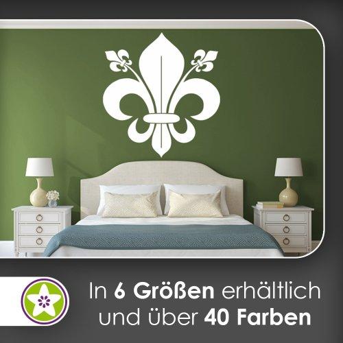 Kiwistar florentiner Lilie Wandtattoo in 6 Größen - Wandaufkleber Wall Sticker