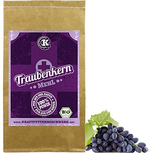 BIO Traubenkernmehl 1kg fein vermahlen - Rohkost aus deutschem Anbau - geballte Kraft aus dem Innern der Trauben
