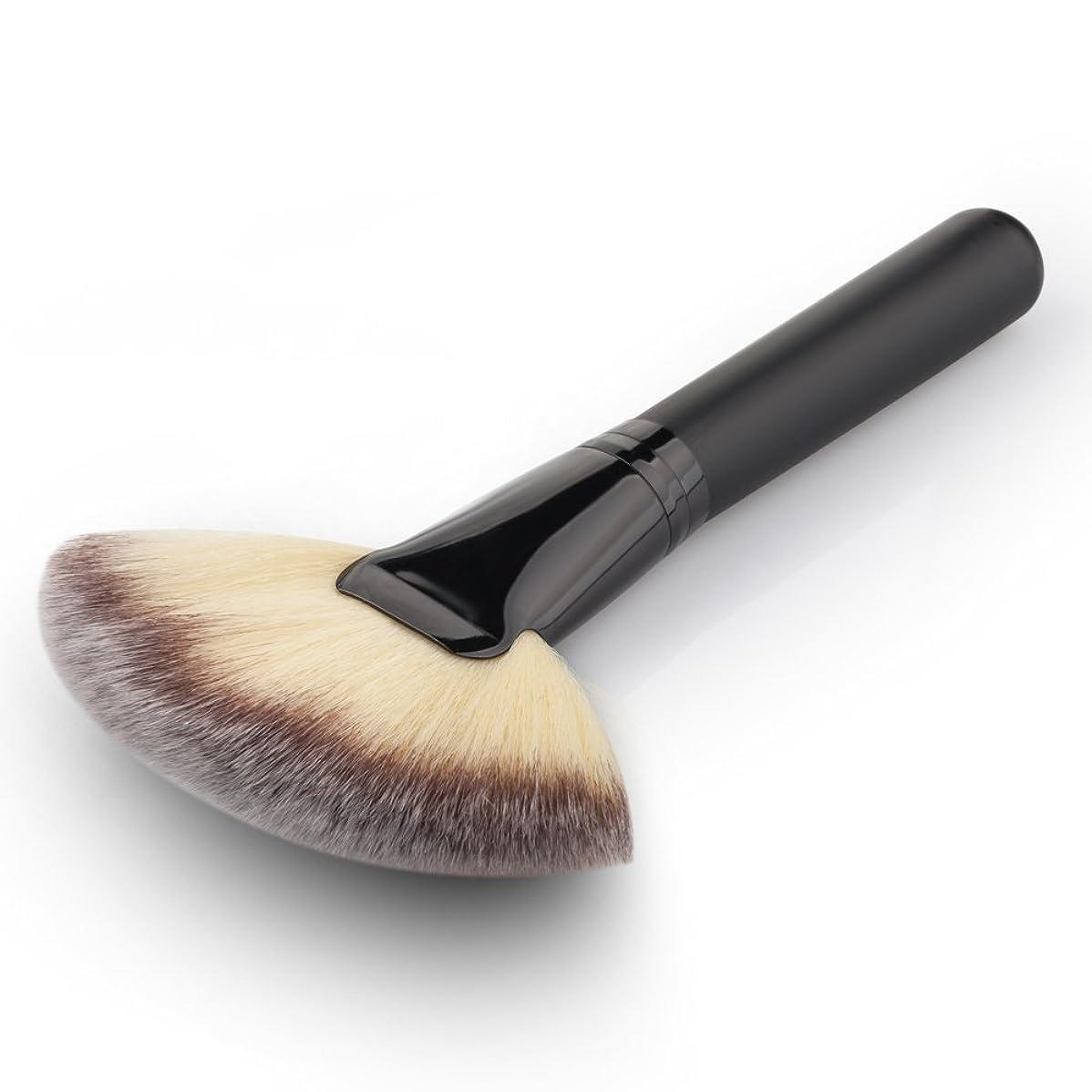 (デマ―クト)De?markt メイクブラシ 化粧筆 化粧専用ファンデーションブラシ 扇形ブラシ フェイスパウダーブラシ 超柔らかいメ イクアップツール