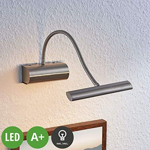 Bilderleuchte Spiegelleuchte Wandleuchte Flur Bilderlampe T5 Silbern Schalter