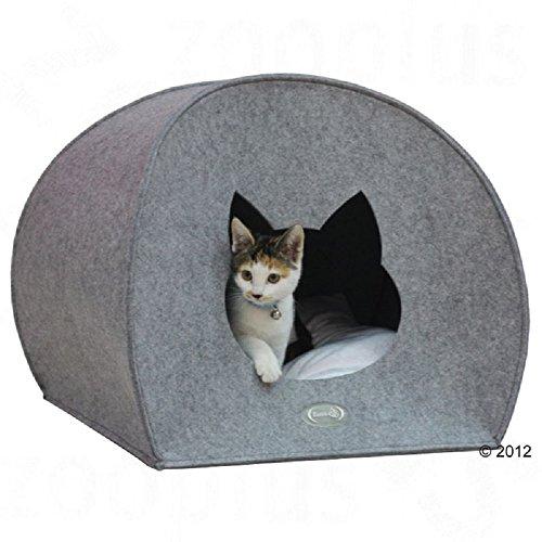 Kuschelige und warme Katzenhöhle Bett Iglu Wurfkiste aus Filz waschbar