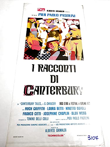 Locandina - Les Rectes de Canterbury - Pier Paolo Pasolini