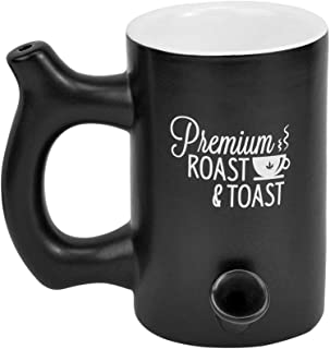 Fashioncraft Premium Roast and Toast Novelty Mug Matte Black with White Print