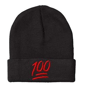 100 Emoji- Beanie-Black