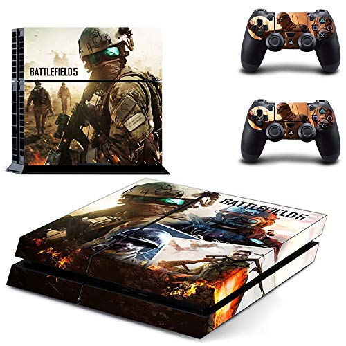 Homie Store PS4 Pro Skin - Ps4 Skins - Ps4 Slim Sticker - Game Battlefield V 5 PS4 Skin Sticker Decal Vinyl for Sony Playstation 4 Console and 2 Controllers PS4 Skin Sticker