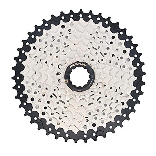 Bici Cassette 9 Velocità Rapporto 11-42T MTB Mountain Bike Acciaio al Carbonio Pignoni Ruota Libera per Sram Shimano HG accessori ciclismo (9 Velocità 11-42T Nero)