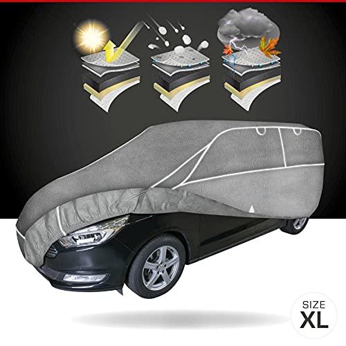 Walser Telone antigrandine Hybrid UV Protect SUV, Impermeabile e Traspirante y restistente ai Raggi, Garage antigrandine Set di Cinghie di Fissaggio Incluso, Dimensione: XL