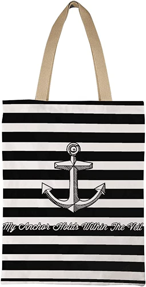 Handbag with Anchor and free shipping Strips Tote Wome Canvas for Shopping Bag Max 61% OFF