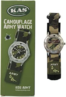 Kids Army Camouflage Watch - Quartz Movement - Camo Strap - Boxed