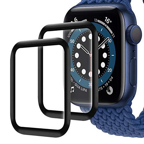 Protector de pantalla para Apple Watch 40 mm Series 5/4 de cristal templado [sin burbujas] [antiarañazos] compatible con iWatch Series5/4 40mm