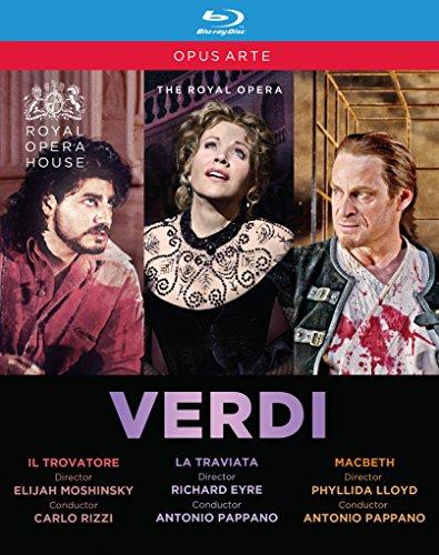Verdi, G.: Trovatore (Il) / La Traviata / Macbeth (Royal Opera House, 2002-2011) (3-DVD Box Set) [Blu-ray]