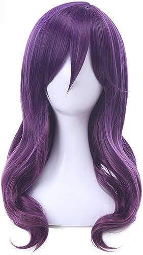 todos los bienes son especiales Peluca Peinados Peluca Cosplay Pelucas 45Cm 45Cm 45Cm púrpura Ondulado Pelo sintético Perucas Peluca cosplay  a precios asequibles