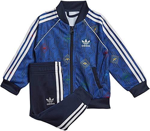 adidas SST Set, Tuta Unisex Bimbi, Top:Team Royal Blue/Collegiate Navy/Multicolor/White Bottom:Collegiate Navy/White, 6-9M