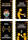 Josco Printers Bamboo Corona, Safety Poster, for Office, Home, Public Places, Hospital, Clinic