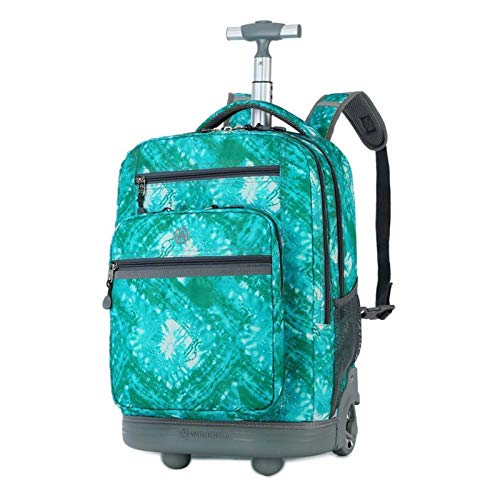 Large-Capacity Student Trolley School Bag, Travel Luggage, Wheeled Cabin Suitcase, Single-Pole Backpack, Birthday Gift for Youth and Students (Color : C)