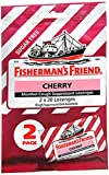 Fisherman's Friend Menthol Cough Suppressant Lozenges Cherry Sugar Free 2-Pack - 40 ct, Pack of 2