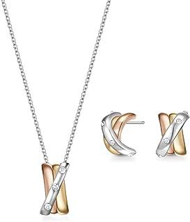 Mestige Women Glass Shara Trinity Set with Swarovski Crystals