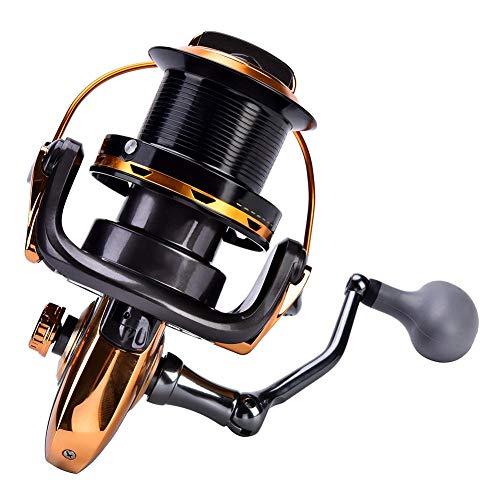 Alomejor 1 Unid Carrete de Pesca, 12 + 1BB Fundición Metálica Mar Pesca Carrete Carrete de Pesca de Alta Velocidad Spinning Tackle Accesorios(8000)