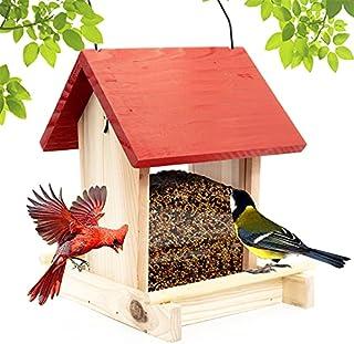 YLYN Lighting Life Cedar Bird Feeder, Window Bird Feeders for Outside, Wild Bird Feeder Hanging for Garden Yard Outside De...