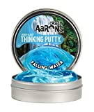 "Crazy Aaron's Transparent Thinking Putty - 4"" Falling Water Liquid Glass See Through Putty Tin - 90 Grams, Never Dries Out"
