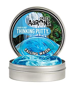 Crazy Aaron s Transparent Thinking Putty - 4  Falling Water Liquid Glass See Through Putty Tin - 90 Grams Never Dries Out