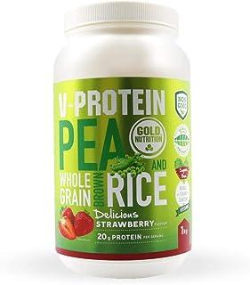 Goldnutrition V-Protein 1kg. Fresa. Proteína Vegetal