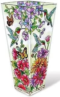 butterfly glass vase