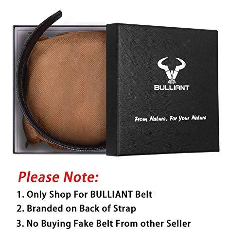 Men's Belt,Bulliant Slide Ratchet Belt for Men Genuine Leather, Multipack(1&2Pack),Trim to Fit