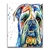 Xykhlj Juegos de Pintura por números - Animal- Bulldog francés - Lienzo preimpreso - Principiantes Niños DIY - Numero Kits Decoración del Hogar - 40x50cm - (Marco de Bricolaje)
