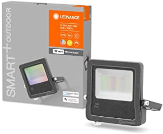 LEDVANCE Smart LEDOutdoor Luminaire with WiFi Technology, FLOODlights for Outside, RGB Colors Changeable, 30 W, Made of Da...