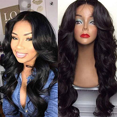 Cheveux longs et longs bouclés perruque longue génération de gros volume transfrontalier de cheveux colorés pour femmes européennes et américaines-Noir