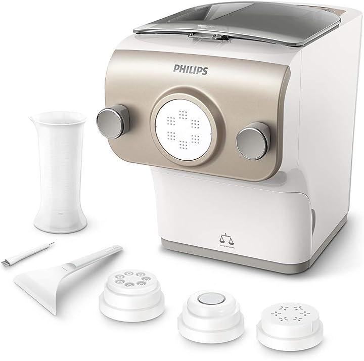 Pasta paker con bilancia integrata, 4 trafile, 200 w, plastica philips avance collection plus HR2380/05