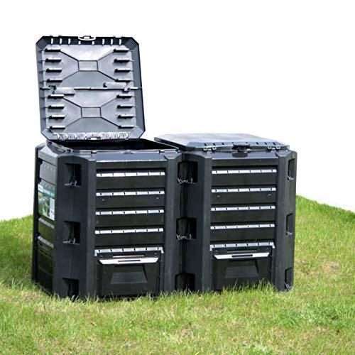 Tidyard Composteur de Jardin Noir 800 L