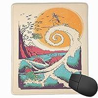 マウスパッド大きな波の中で奇妙な人々 マウスパッドゲーミングマウスパッド大型ゲーミング滑り止めハイエンド流行のファッション防水耐久性滑り止めラバーボトム 25*30cm