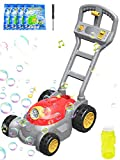BEYYON Bubble Lawn Mower, Automatic Bubble Blower Machine with Music for Toddlers, Outdoor Push Toys, Birthday Gifts for Boys Girls 2-6 Years Old