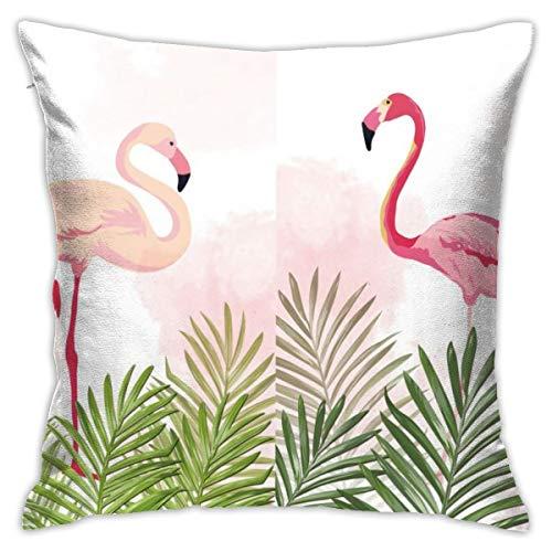 iksrgfvb Pillowcases Cushion Covers decoration Bark Cartoon Summer Flamingo on the Sofa car bed 45X45 CM