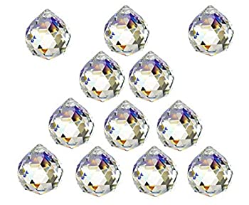 12 Pcs Crystal Ball Prism Suncatcher Rainbow Pendants Maker 20mm Clear Glass Crystal Ball Prism,Hanging Crystals Prisms for Windows,for Feng Shui,for Home,Office,Garden Decoration