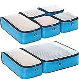 eBags Hyper-Lite Travel Packing Cubes - Lightweight - Ultimate Packer Organizers - 7pc Set - (Blue)